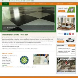 Web Design | Carolina Pro Clean