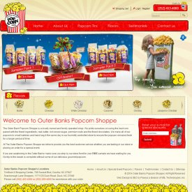 eCommerce Web Development | Outer Banks Popcorn Shoppe