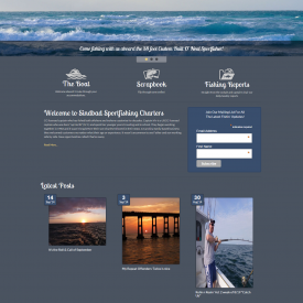 Web Design & Development – Sinbad Sportfishing
