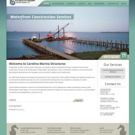 Web Development | Carolina Marine Structures